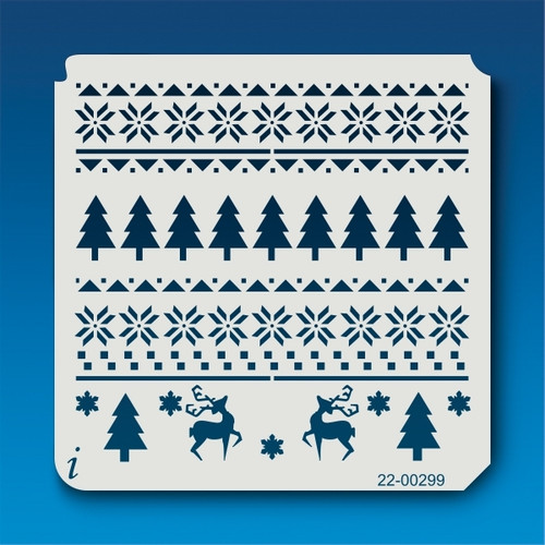 22-00299 Ugly Christmas Sweater Stencil