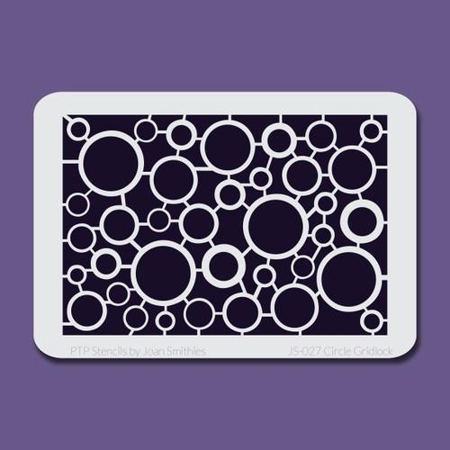 JS-027 circle gridlock stencil