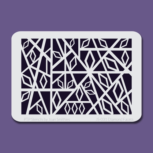 JS-031 diamond facets stencil