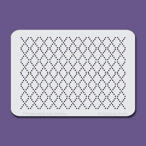 JS-036 dotty trellis stencil