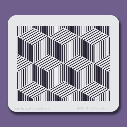 8x10 PTP-174 blocks stencil