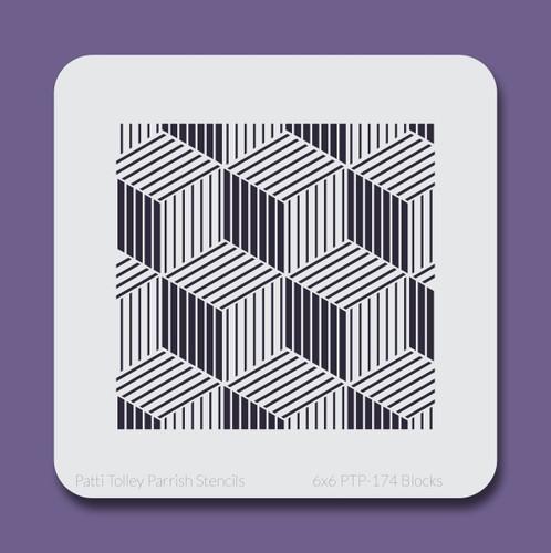 6x6 PTP-174 blocks stencil