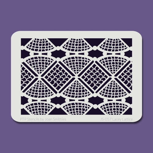 JS-057 lacey lattice stencil