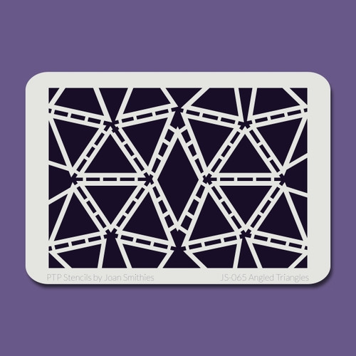 JS-065 angled triangles stencil