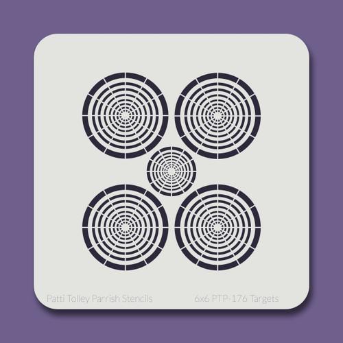 6x6 PTP-176 targets  stencil