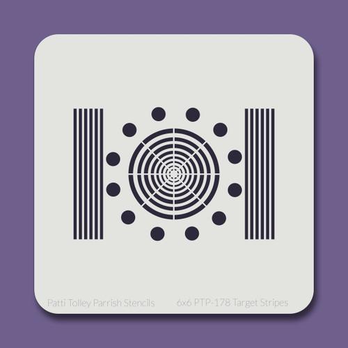 6x6 PTP-178 target stripes stencil