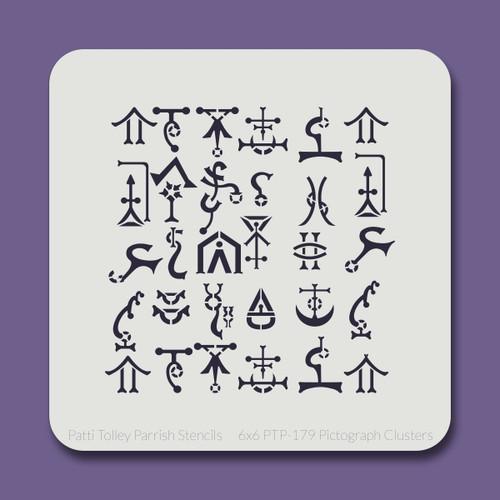 6x6 PTP-179 pictograph clusters  stencil