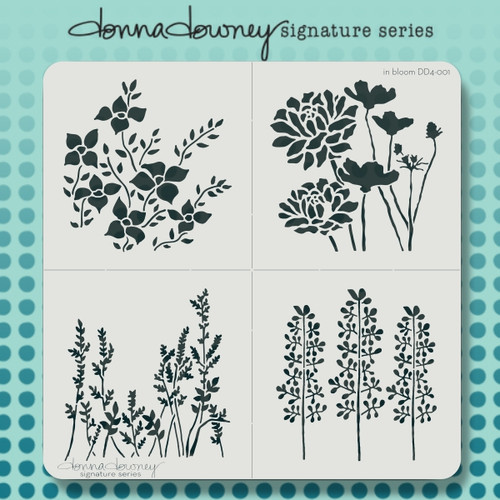DD4-001 in bloom 4 pack stencil