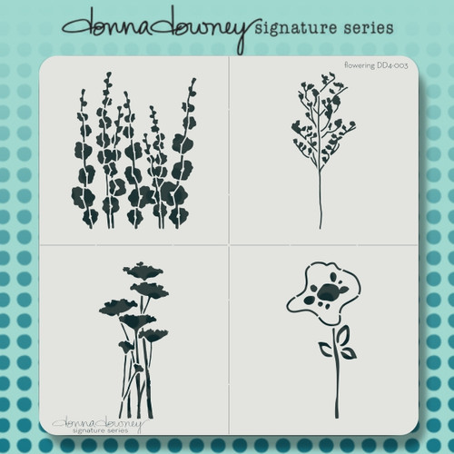 DD4-003 flowering 4 pack stencil