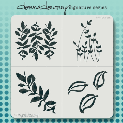 DD4-005 leaves 4 pack stencil