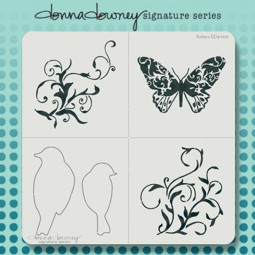DD4-006 flutters 4 pack stencil
