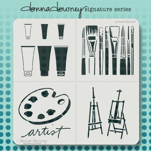 DD4-007 art tools 4 pack stencil