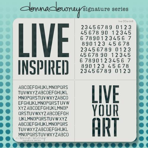 DD4-008 live 4 pack stencil