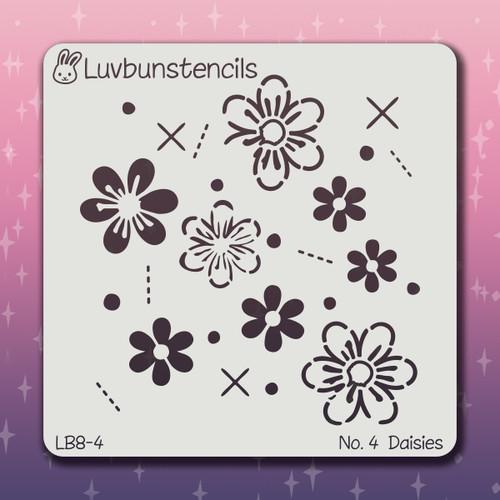 LB-04 daisies stencil