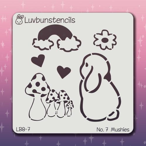 LB-07 mushies stencil