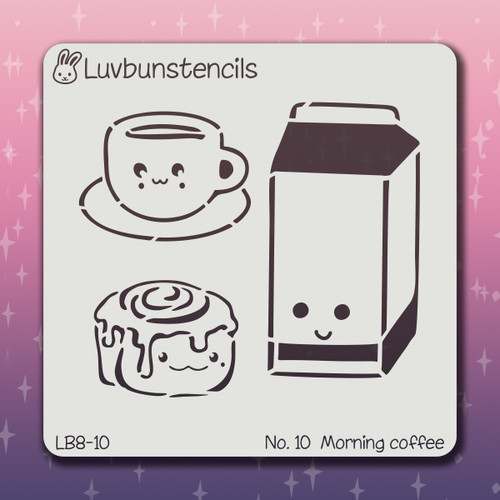 LB-10 morning coffee stencil