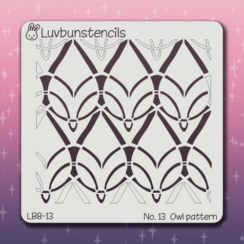 LB-13 owl pattern stencil