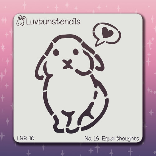 LB-16 equal thoughts stencil