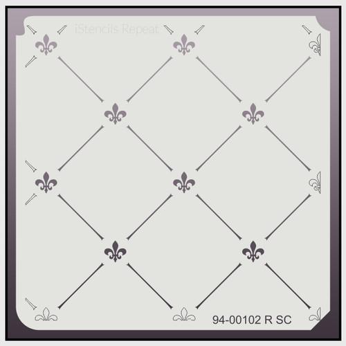 94-00102 RSC fleur de lis lattice stencil