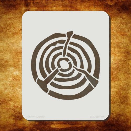 labyrinth stencil