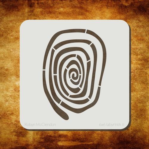 labyrinth II stencil