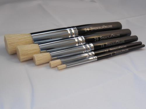 stencil brush set