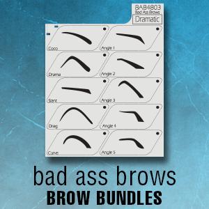 badass eyebrow stencils sets