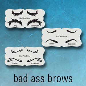 badass eyebrow stencils
