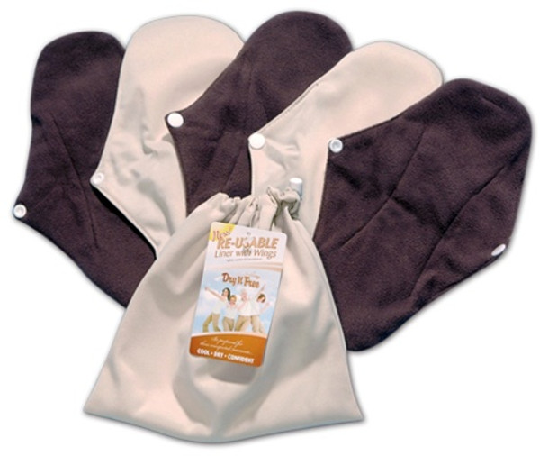 Reusable Liners with Wings (5 pack)