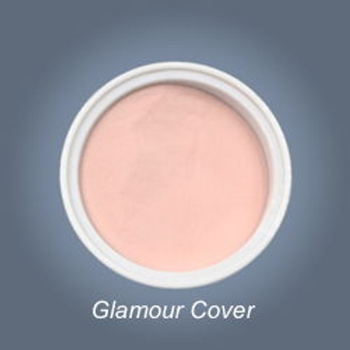 Glamour Cover camouflage acrylic powder from the Nail Paradise has the natural color of the nail plate.  Used by professionals to extend the nail bed  great for clients the European type of skin colouring.  It does not bubble, easily  to file. It hides the flaws of nail plate.