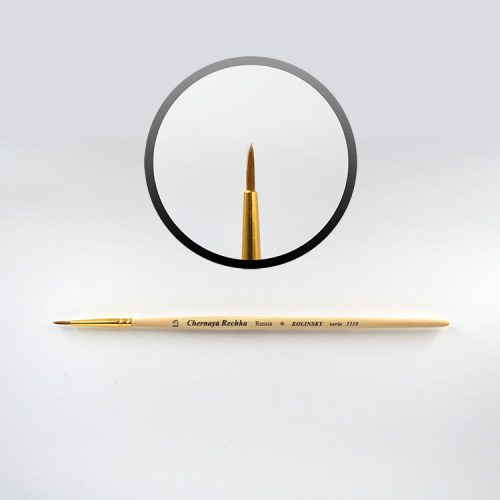 """Nail Art 1,5 Brush  Brush """"Chernaya Rechka""""    An elite tool suitable for almost any type of work.  Manufactured from natural hair (Kolinsky).  This brush holds its shape well! Suitable for any art design (acrylic paint, watercolor paint, gel design). Excellent for drawing thin design lines!  Size: 1,5"""