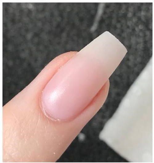 Pretty Swish Pink This colour has a beautiful blush hue to it so it highlights the natural nail while camouflaging any blemishes that may be on the natural Nail.   There is no visible regrowth line from the acrylic to the natural nail plate. Can be used with both Speedy Cheetah or Lifting Control Monomer.  This colour was created by our educator Sonya Cormaux-Bevacqua