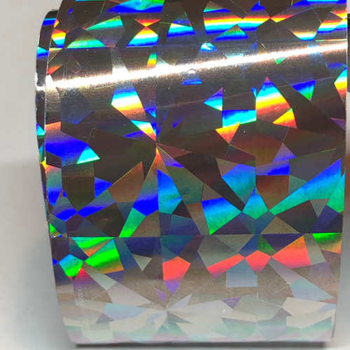 Foil  0010 - Silver holographic