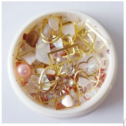 3D mixed crystals Pink shell