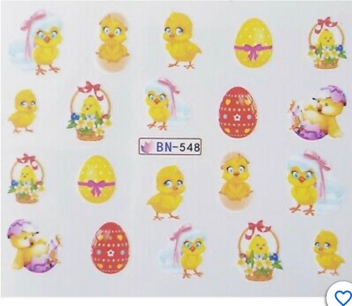 Easter Water Decal Stickers