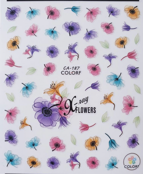 Nail Art Stickers - CA187 flowers