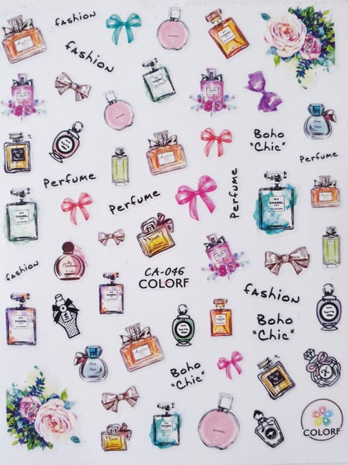 Nail Art Stickers - CA046 Perfume collection