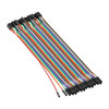 3804-1919-0020 - Female to Female Jumper Wire (Multicolor, 20cm Length) - 40 Pack