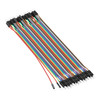 3804-2020-0020 -  Male to Male Jumper Wire (Multicolor, 20cm Length) - 40 Pack