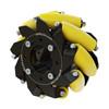 3606-0000-0100 - 3606 Series Mecanum Wheel (Left Slant, Bearing Supported Rollers, 100mm Diameter)