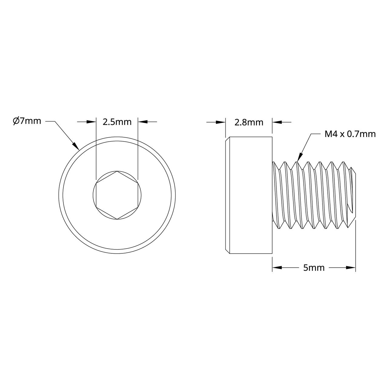 2804 Series Zinc-Plated Steel Low Profile Socket Head (M4 x ... on remington 870 schematic, m249 schematic, overdrive schematic, mossberg 500 schematic, g3 schematic, ar schematic, m16 schematic, m16a1 schematic, s3 schematic, simple distortion pedal schematic,