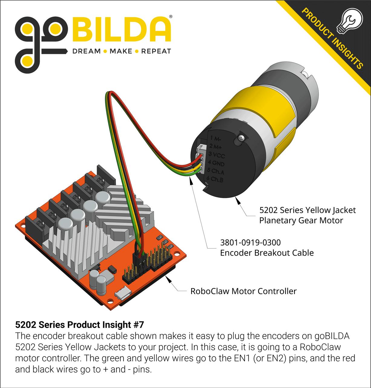 encoder 7 pole wiring diagram 5202 series yellow jacket planetary gear motor  139 1 ratio  43  yellow jacket planetary gear motor