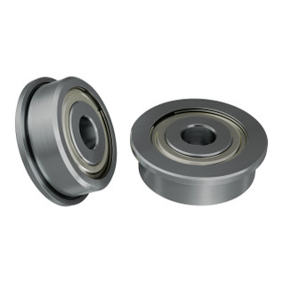 1601-0014-0004 - 1601 Series Flanged Ball Bearing (4mm ID x 14mm OD, 5mm Thickness) - 2 Pack