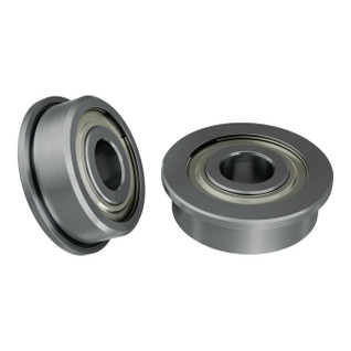 1601-0014-0005 - 1601 Series Flanged Ball Bearing (5mm ID x 14mm OD, 5mm Thickness) - 2 Pack