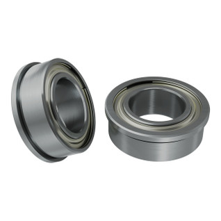 1611-0514-0008 - 1611 Series Flanged Ball Bearing (8mm ID x 14mm OD, 5mm Thickness) - 2 Pack