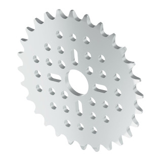 3310-0014-0028 - 3310 Series 8mm Pitch Aluminum Hub Mount Sprocket (14mm Bore, 28 Tooth)