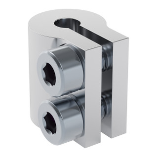 4000-0004-0006 - 4000 Series Clamping Shaft Coupler (4mm Round Bore to 6mm Round Bore)