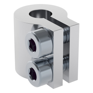 4000-0006-0008 - 4000 Series Clamping Shaft Coupler (6mm Round Bore to 8mm Round Bore)