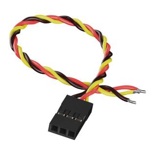 3800-0017-0100 - 3-Pos TJC8 Servo Lead (MH-FC, 100mm Length) - 2 Pack