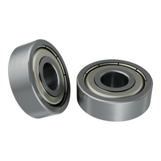 1600-0722-0008 - 1600 Series Non-Flanged Ball Bearing (8mm ID x 22mm OD, 7mm Thickness) - 2 Pack